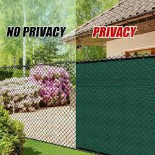 Colourtree 6 Ft X 50 Ft Green Privacy Fence Screen Mesh Fabric Cover Windscreen With Reinforced Grommets For Garden Fence Tap0650 1 The Home Depot
