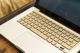 Gold Golden Macbook Keyboard Decal Keyshorts