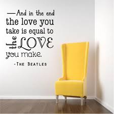 Vinyl Wall Decal Beatles Love Wall Decal Song Quote Music Sticker 20x20 Bb1 Walmart Com Walmart Com