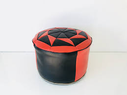 leather ottoman triangle shape design