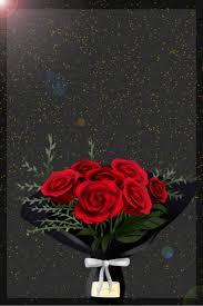 أسود جو رومانسي وردة الطبقات Psed بسيطة ارتفع صورة الخلفية