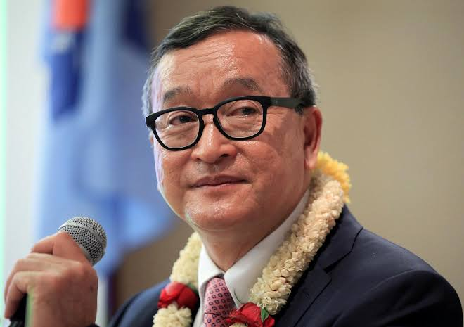 Image result for Facing arrest, Cambodia's Sam Rainsy says he will return Saturday""