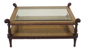 maitland smith leather wrapped mahogany