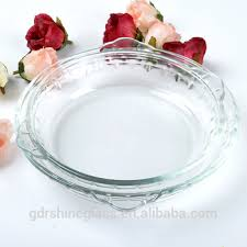microwave oven round glass baking pan
