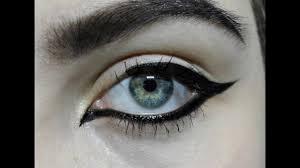 gothic cat eye makeup tutorial