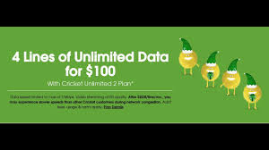cricket wireless 4 lines of unlimited