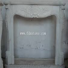 white marble stone carved fireplaces
