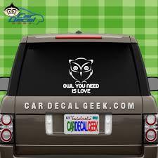 Owl You Need Is Love Wall Window Decal Sticker