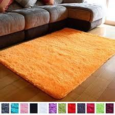 Pagisofe Super Soft Shaggy Accent Area Rug Orange Plush Rugs Carpet For Living Room Bedrooms Kids Nurser Living Room Carpet Rugs On Carpet Brown Carpet Bedroom