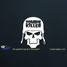 Zombie Killer Car Decal Graphic Window Stickers
