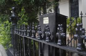 Image Of Letterbox And Wrought Iron Fence Outside Terrace House Austockphoto