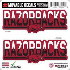 Arkansas Car Decals Arkansas Razorbacks Bumper Stickers Decals Fanatics