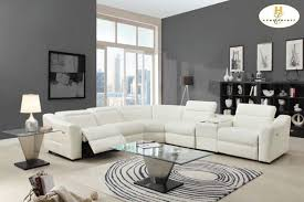 modern white leather reclining