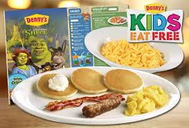 kids eat free at denny s frugal novice