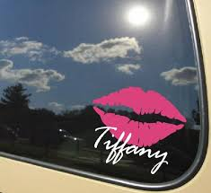 Sexy Lips With Name Kiss Car Decal 5 Wide Love Makeup Etsy