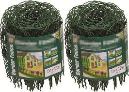 Decorative 0 65m 10m Garden Border Wire Fencing Mesh Roll With Hooped Top