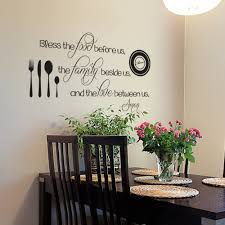 Amazon Com Kitchen Wall Decal Bless The Food Before Us Decal Kitchen Wall Quote Dining Room Decal Religious Wall Decal Kitchen Wall Decor 34x20 Black Home Kitchen