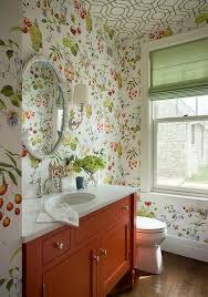 green orange powder room cowtan