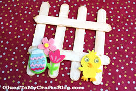 Popsicle Stick Picket Fence Kid Craft Idea For Spring