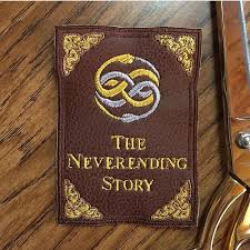 neverending story faux leather book