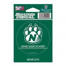 Northwest Missouri State University Round Vinyl Decal 3 X 3 Mo Sports Authentics Apparel Gifts