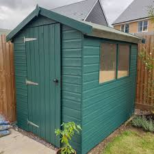 Finally Managed To Agree On A Colour For Our Shed Shed Garden Newpainted Productivesunday Garde Garden Front Of House Cuprinol Garden Shades Shed
