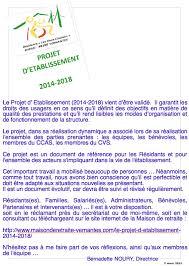le projet d etablist 2016 2018