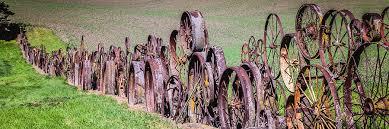 Wagon Wheel Fence Dahmen Farm Uniontown Washington Photograph By Jon Berghoff