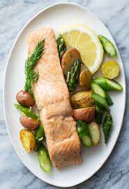 Oven-Roasted Salmon, Asparagus and New ...