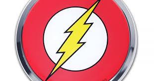 The Flash Chrome Emblem Elektroplate