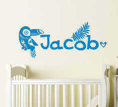 Personalized Name Wall Decal Boys Room Safari Animal Vinyl Etsy
