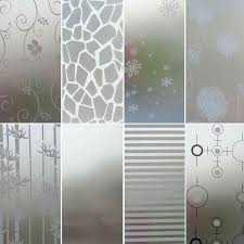European Frosted Privacy Frost Glass Window Film Sticker Bedroom Bathroom No Glue Privacy Decal Home Decoration 45 X 200cm Decorative Films Aliexpress
