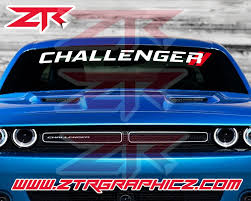 Custom Dodge Challenger Double Stripe Windshield Decal Sxt Rt Hemi Srt Ztr Graphicz