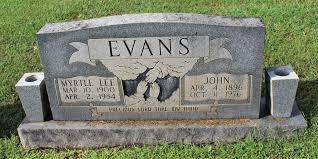 Myrtle Lee Evans (1900-1984) - Find A Grave Memorial