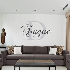 Last Name Established Wall Decal Family Stickers Vinyl Design Est Tree With Vamosrayos