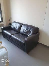 real leather sleeper sofa bed achrafieh