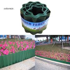 Clmx Garden Lawn Plastic Flexible Fence Path Grass Wall Edging Border Flower Protect Shopee Philippines