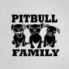 Pitbull Family With 3 Dogs Sticker Pitbull Mom Pit Bull Dad Etsy