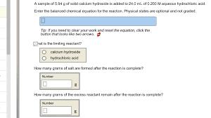 balancing equations a sample of 5 94 g