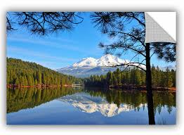 Artwall Mount Shasta Reflections On The Lake Removable Wall Decal Wayfair