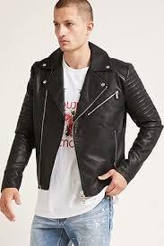 faux leather jacket men