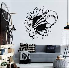 Baseball Wall Decal Baseball Stickers Decals Baseball Wall Etsy Baseball Wall Decal Kids Room Wall Stickers Baseball Wall