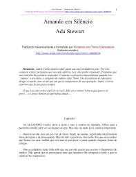 Ada stewart -_amando_em_silencio