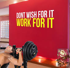Don T Wish For It Work For It Wall Fitness Decal Quote Etsy