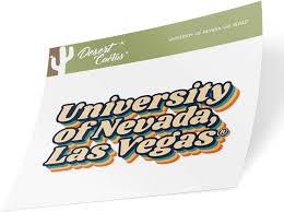 Amazon Com University Of Nevada Las Vegas Unlv Rebels Ncaa Vinyl Decal Laptop Water Bottle Car Scrapbook 70 S Name Sticker Arts Crafts Sewing