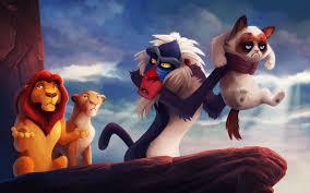 grumpy cat lion king crossover