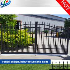 China Aluminum Fence Panel And Gates Modern Fence Gate Louver Gates Fencing Door Iron Main Gate Design Automatic Gate For Villa Garden China Security Fence And Garden Fence Price