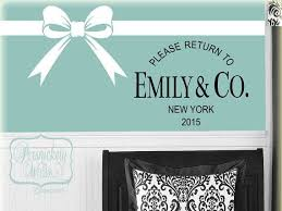 Please Return To Personalized Name Co With City And Date Vinyl Design Includes Bow And Ribbon Lines Vinyl Wall Art Decals Vinyl Wall Stickers Vinyl Wall