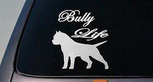 American Bully Life Dog Sticker Car Decal Script Font Pit Bull Pitbull B174 For Sale Online Ebay