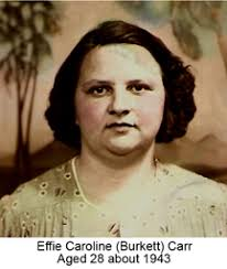 Effie Caroline Burkett Carr (1914-1974) - Find A Grave Memorial